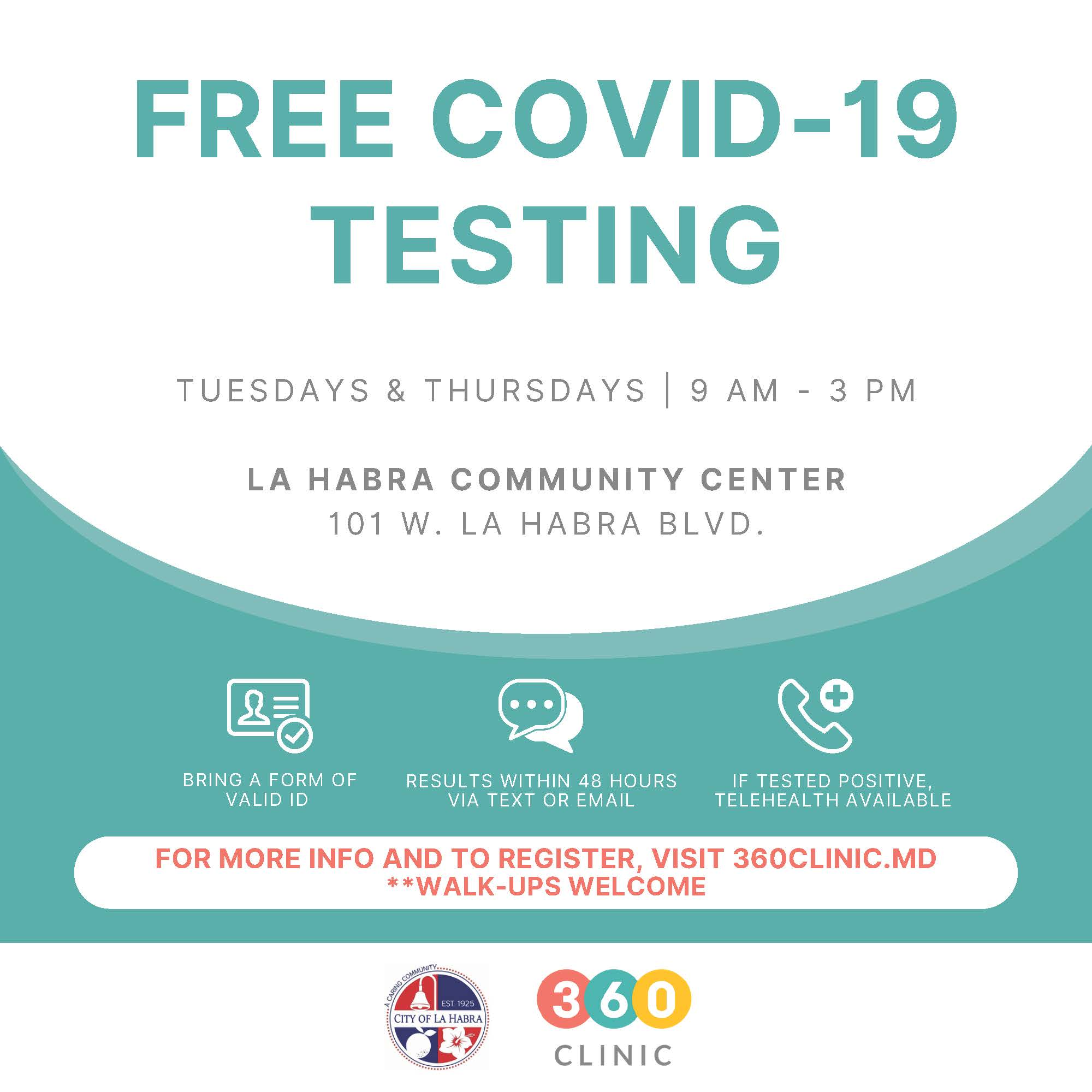 free covid testing flyer