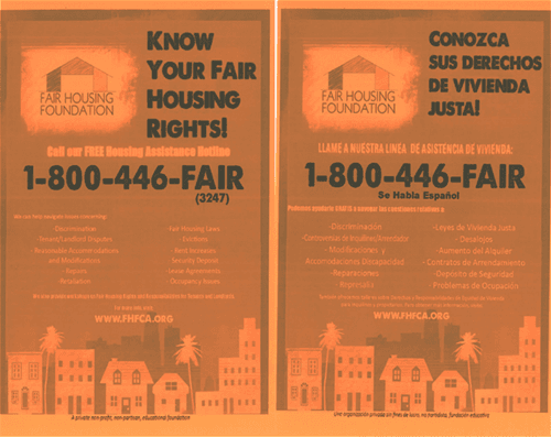 Fair Housing Foundation Flyers